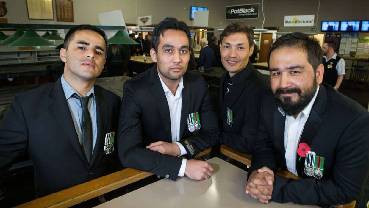 Afghan interpreters wear NZDF service medals with pride